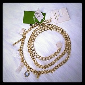 Kate spade charm chain belt